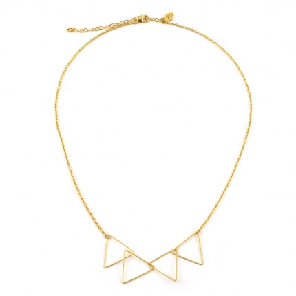 Collier 4 triangles en vermeil